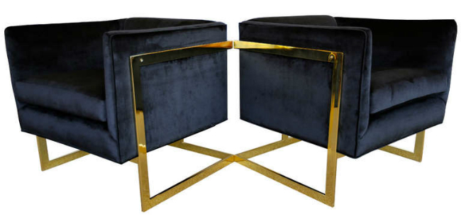 BRASS MID CENTURY CHAIRS 2