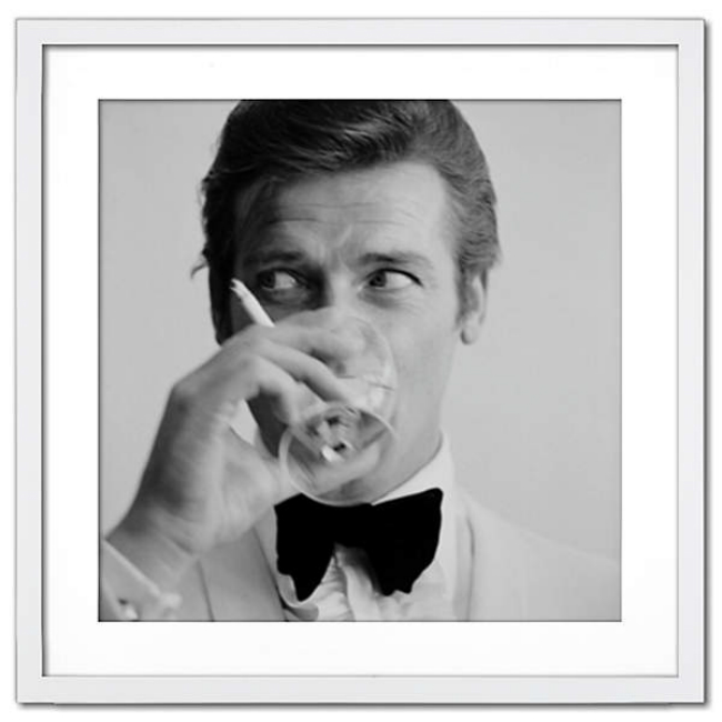 ROGER MOORE SHAKEN NOT STIRRED